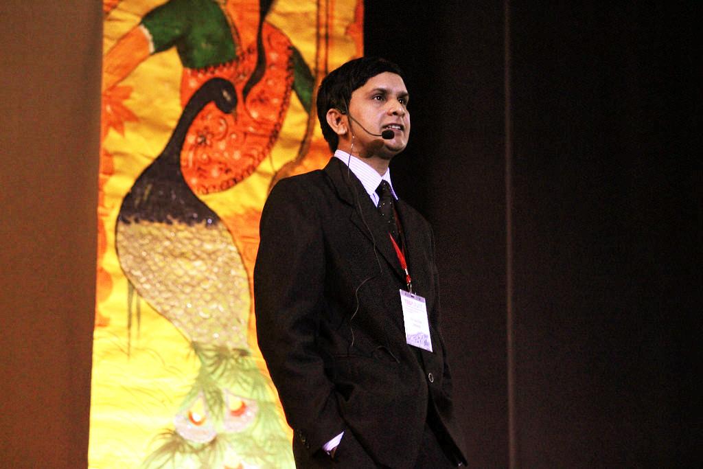 KV Gautam at TEDx JUIT