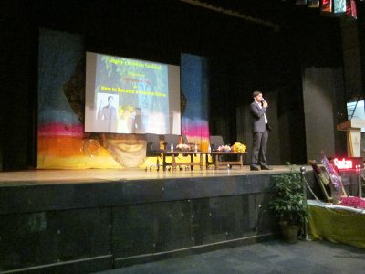KV Gautam at Lingaya's University