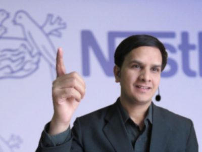 KV Gautam at Nestle event